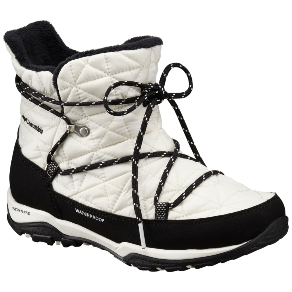 COLUMBIA Women's Loveland Shorty Omni-Heat Seal Boots - WHITE/BLACK