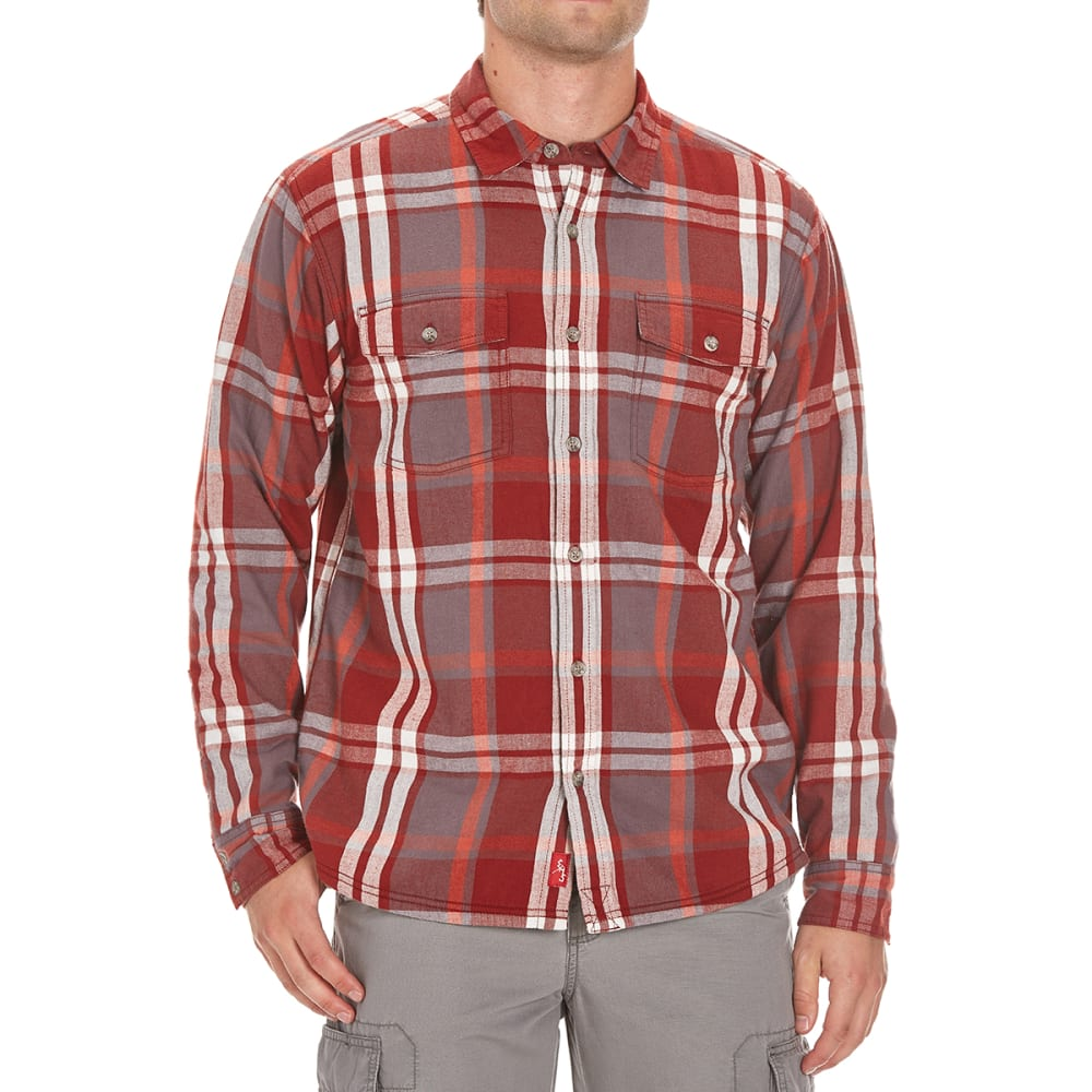 EMS Men's Timber Lined Flannel Shirt - RUSSET