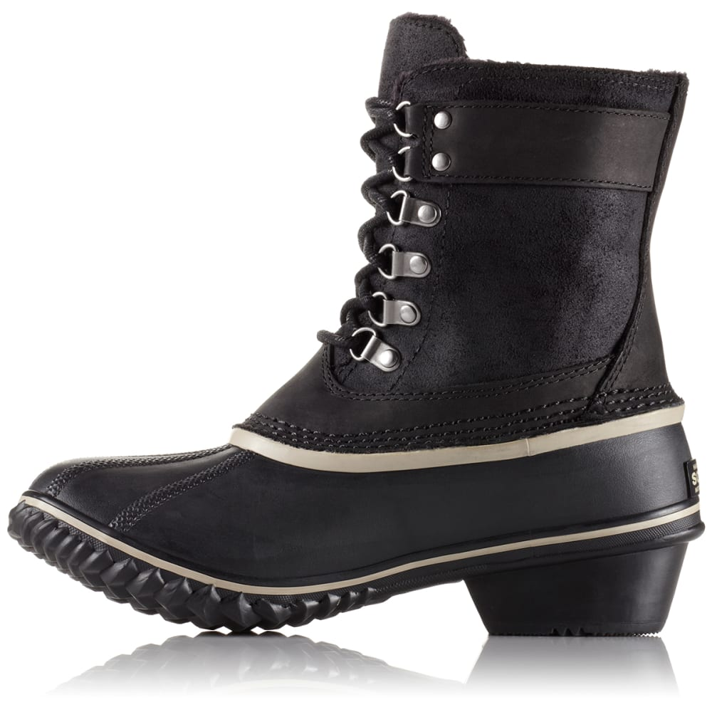 SOREL Women's Winter Fancy Lace II Boot, Black - BLACK/SILVER SAGE
