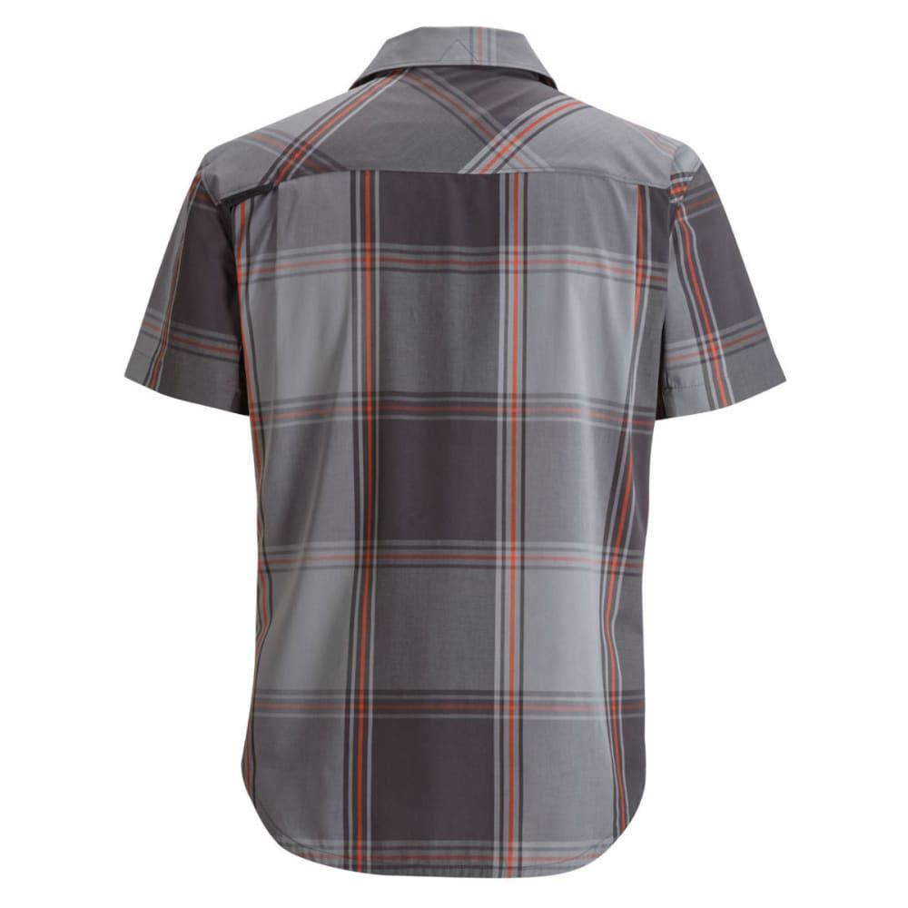 BLACK DIAMOND Men's Short-Sleeve Technician Shirt - NICKEL/SLATE PLAID
