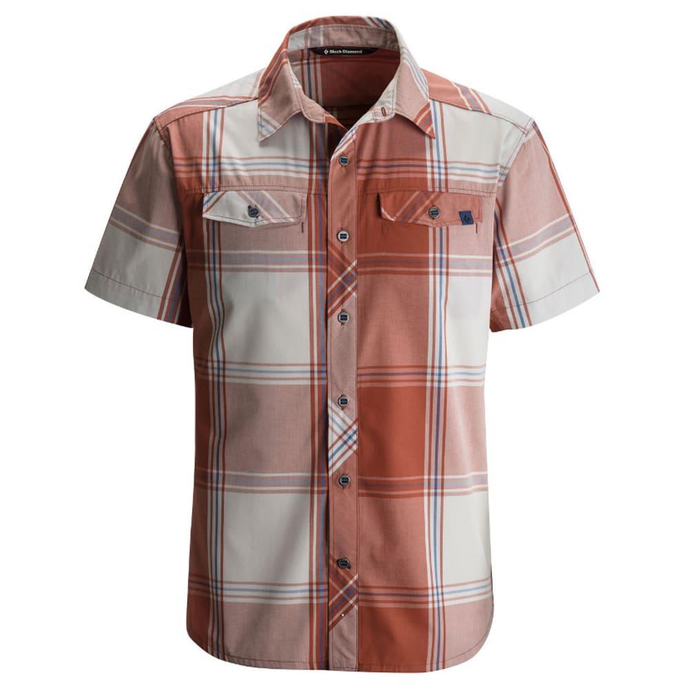 BLACK DIAMOND Men's Short-Sleeve Technician Shirt - RUST/ALUM PLAID