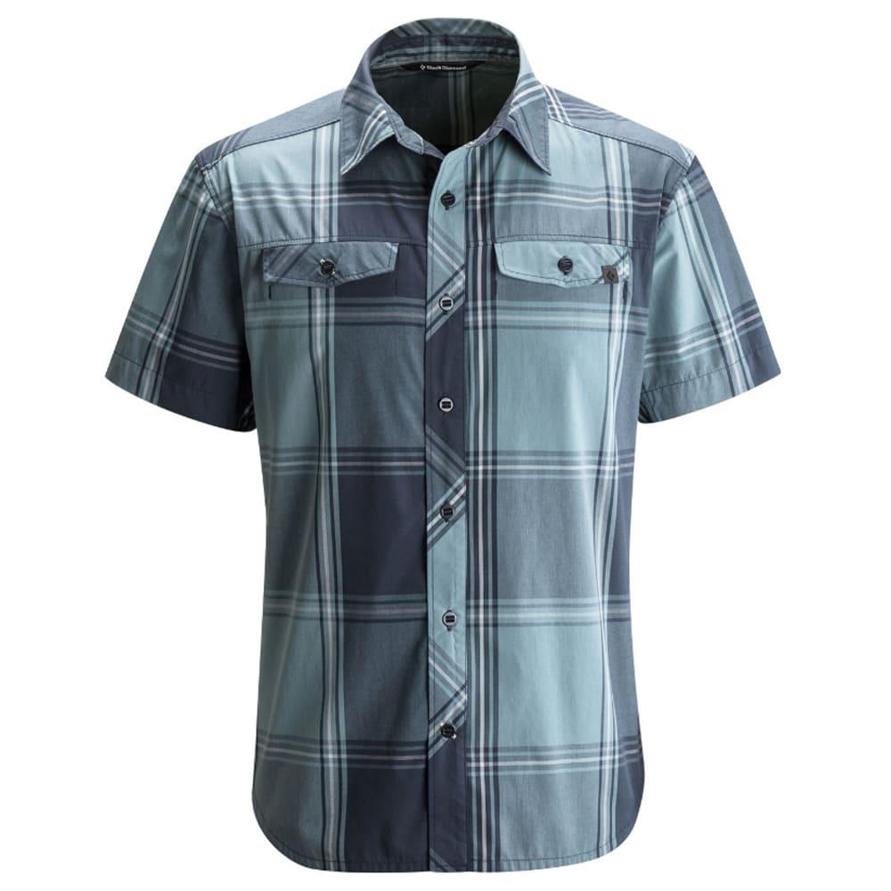 BLACK DIAMOND Men's Short-Sleeve Technician Shirt - ADMIRAL/CASPIAN PLAI