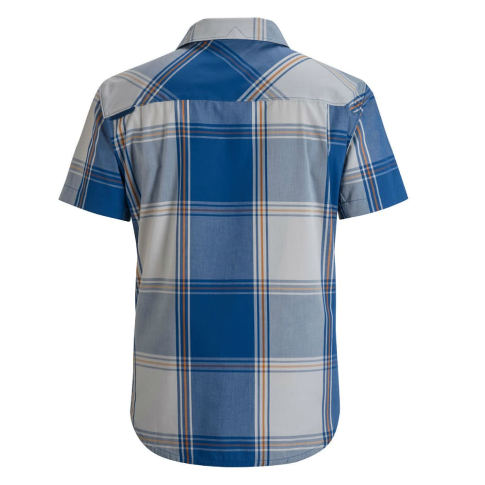 BLACK DIAMOND Men's Short-Sleeve Technician Shirt - DENIM/ALUM PLAID