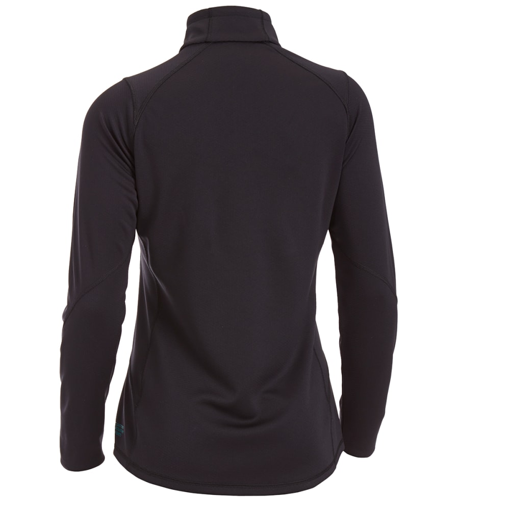 EMS Women's Techwick Dual Thermo  1/4 Zip - JET BLACK