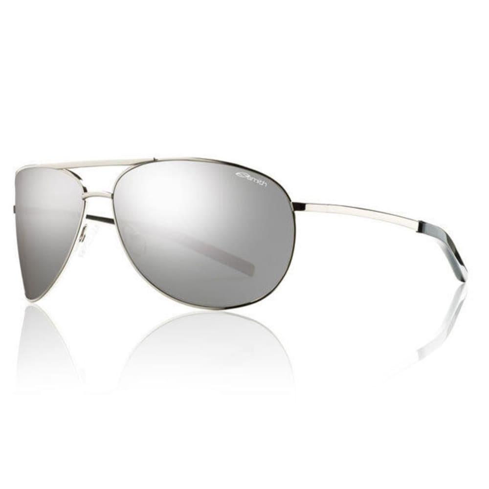 SMITH Serpico Non-Polarized Aviator Sunglasses, Silver/Platinum - SILVER