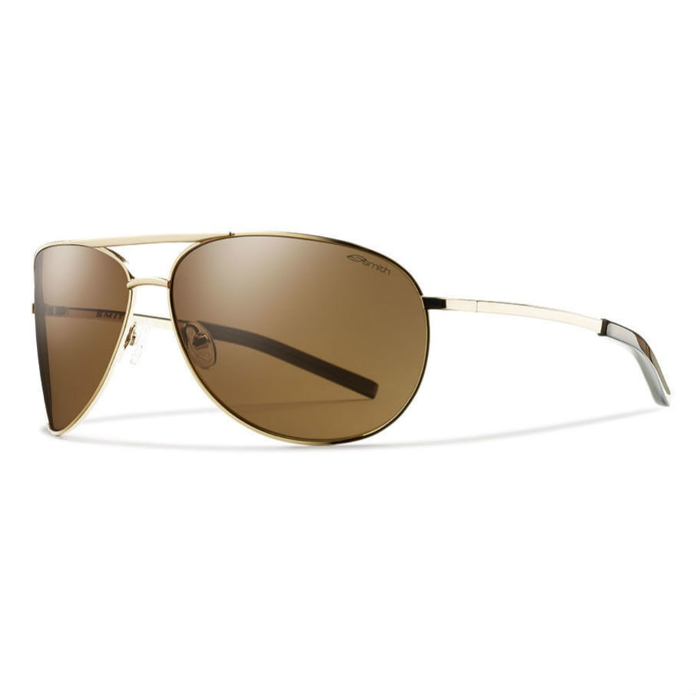SMITH Serpico Sunglasses, Gold/Sienna Brown - GOLD frame brn lense