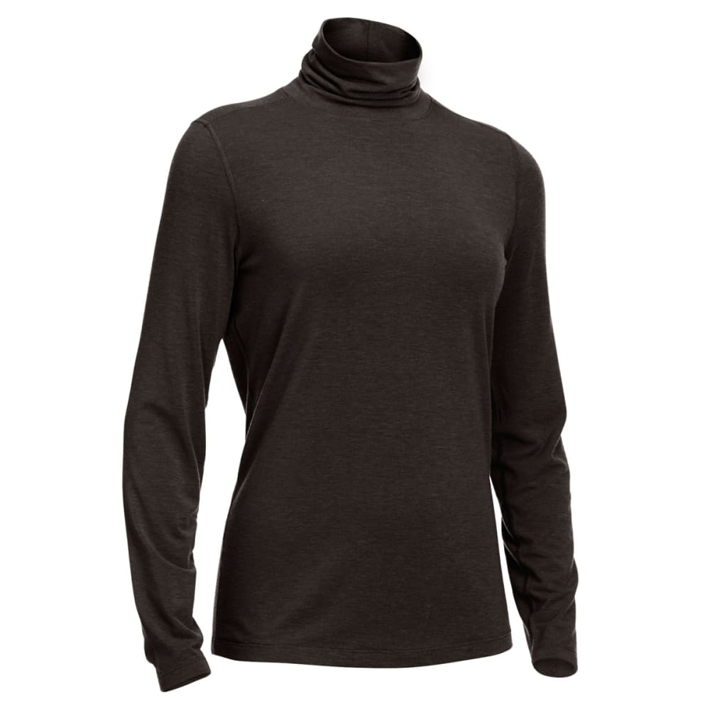 EMS® Women's Techwick® Journey Turtleneck Tee - BLACK HEATHER