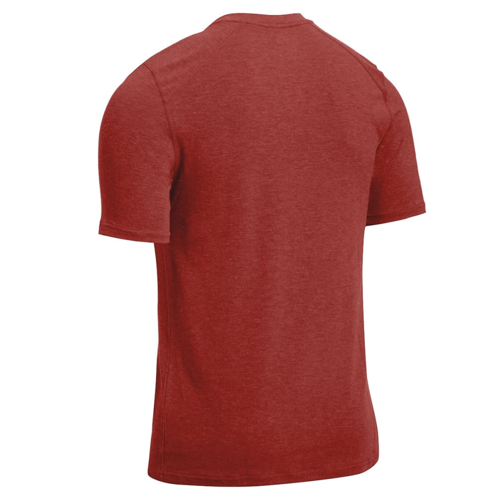 EMS Men's Techwick Journey Crewneck Tee - FIRED BRICK