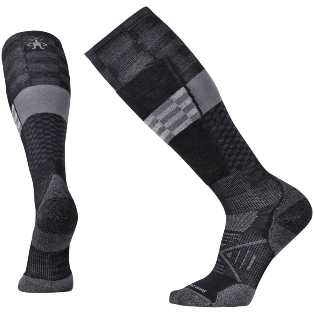 SMARTWOOL Men's PhD Ski Light Elite Pattern Socks - BLACK 001
