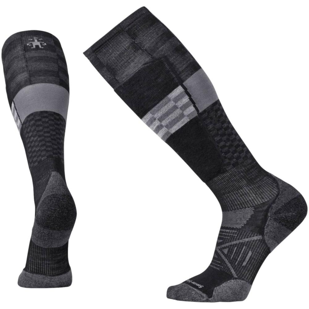 SMARTWOOL Men's PhD Ski Light Elite Pattern Socks - BLACK 001