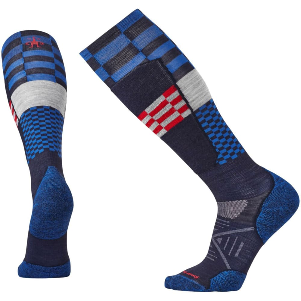 SMARTWOOL Men's PhD Ski Light Elite Pattern Socks - NAVY 201