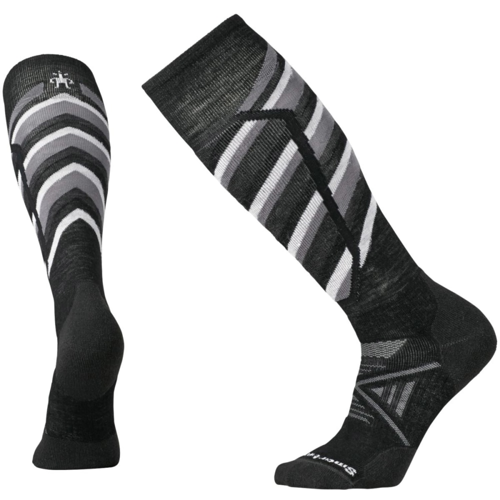 SMARTWOOL Men's PhD Ski Medium Pattern Socks - BLACK 001