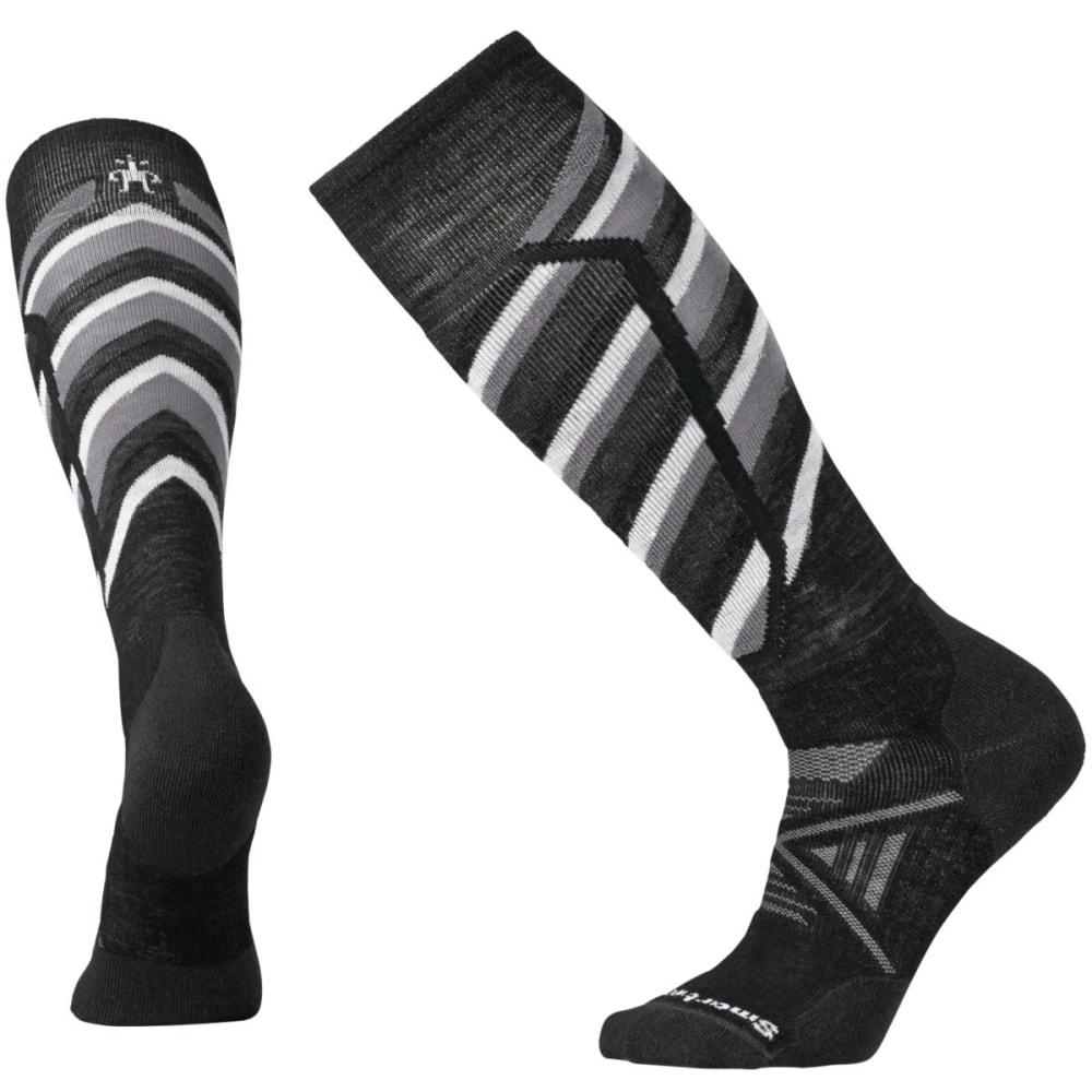 SMARTWOOL Men's PhD Ski Medium Pattern Socks - BLACK 001