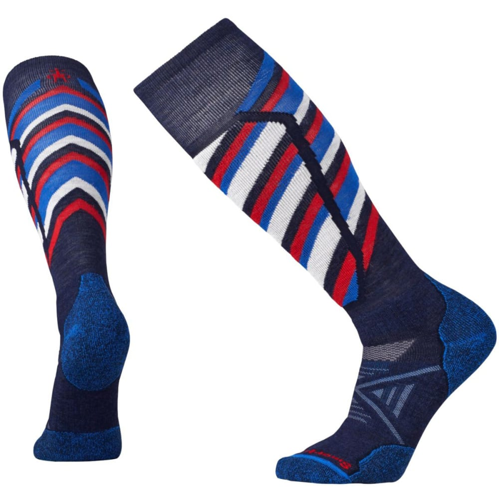 SMARTWOOL Men's PhD Ski Medium Pattern Socks - NAVY 201