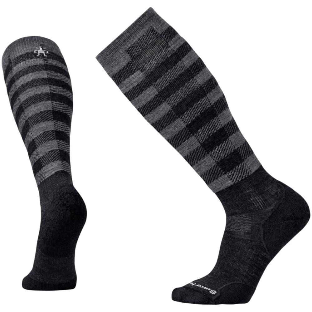 SMARTWOOL Men's PhD Slopestyle Light Ifrane Socks - CHARCOAL 003