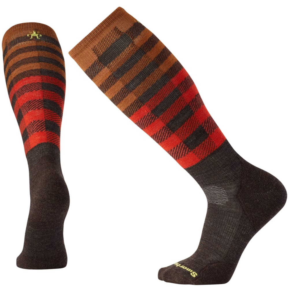 SMARTWOOL Men's PhD Slopestyle Light Ifrane Socks - CHESTNUT 207