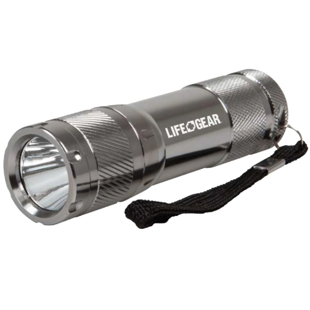LIFE GEAR Mini Pro Tactical Flashlight, 100 Lumens - SILVER