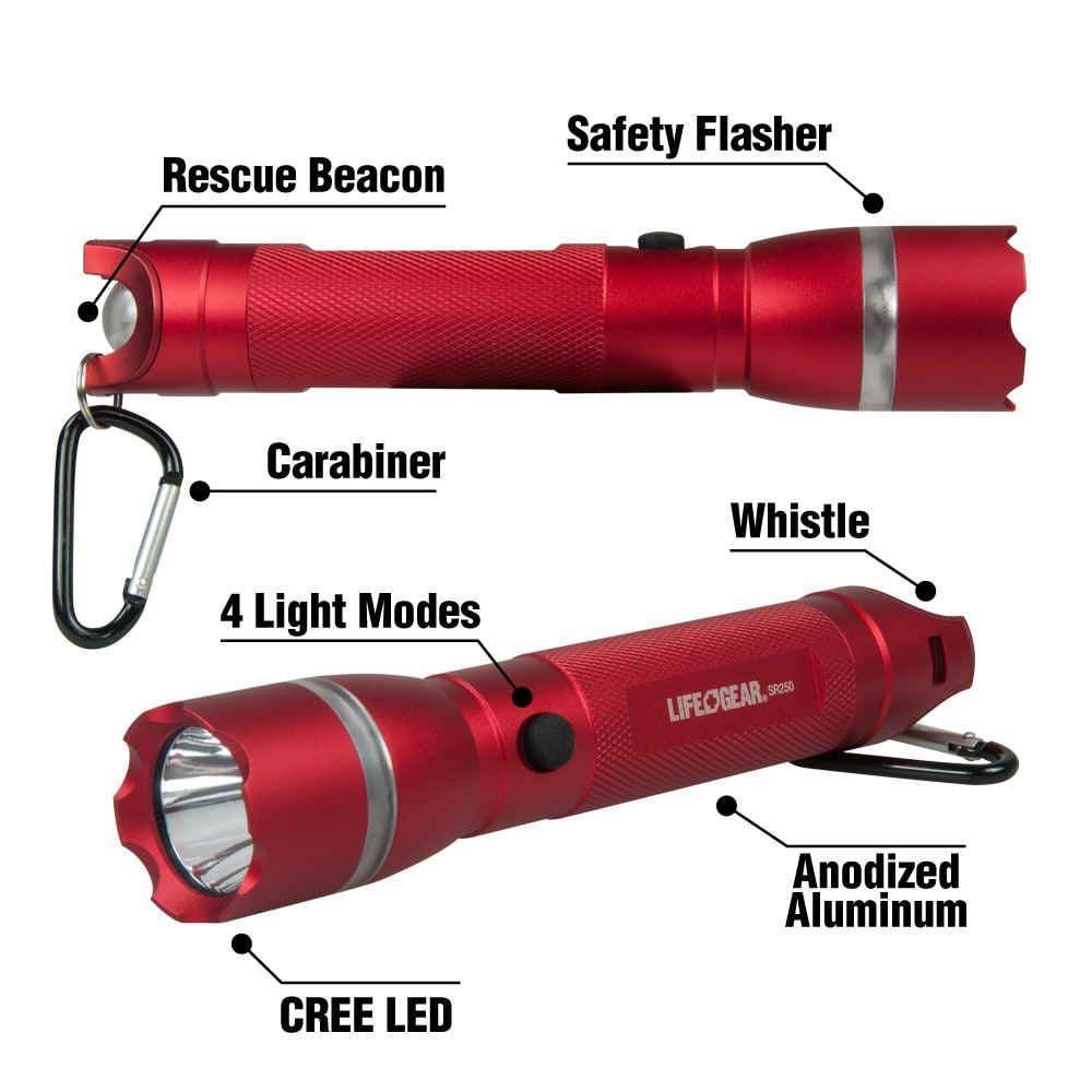 LIFE GEAR Search Light 250+ Emergency Signaling - RED