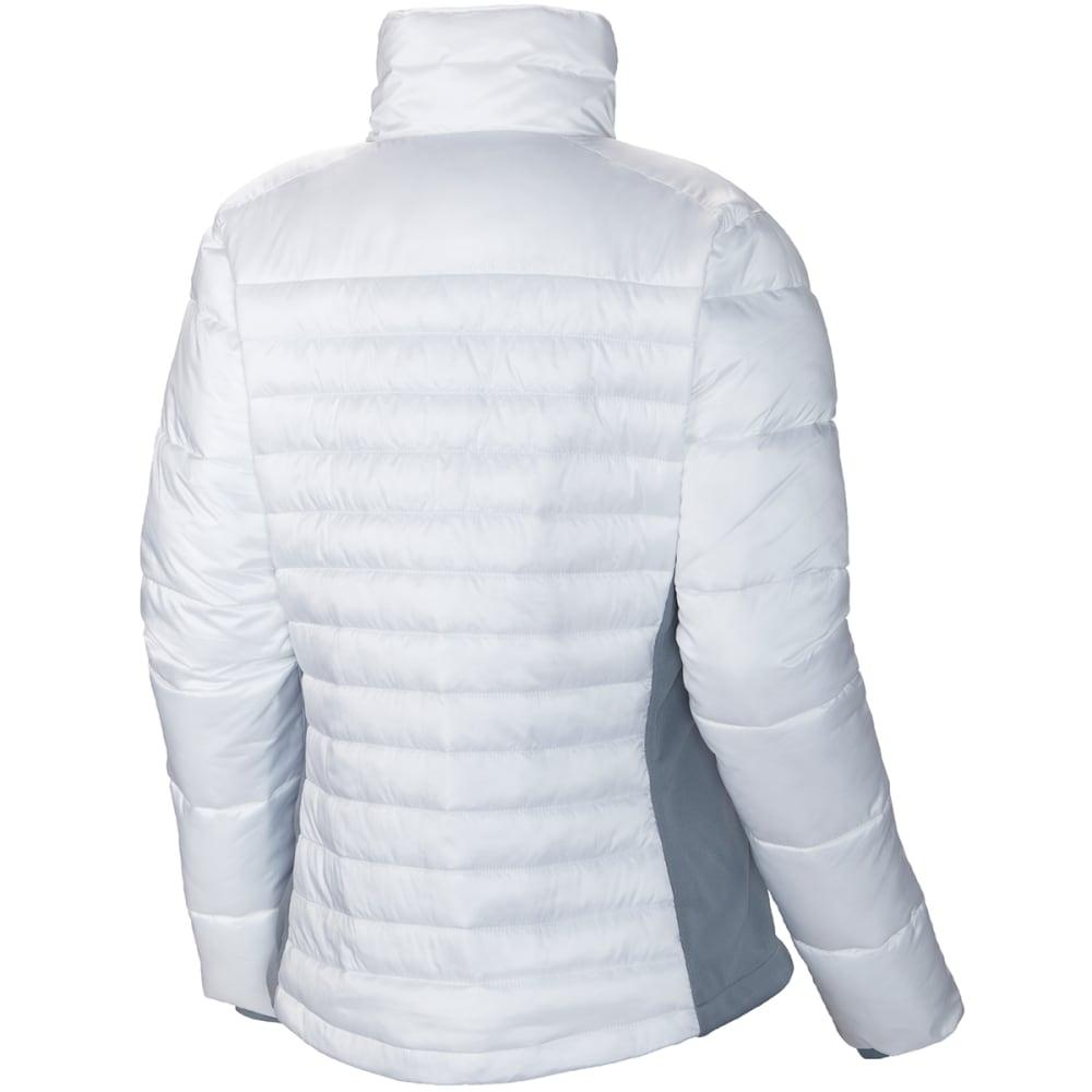 COLUMBIA Women's Powder Pillow Hybrid Jacket - 102-WHITE/TRADWINDS