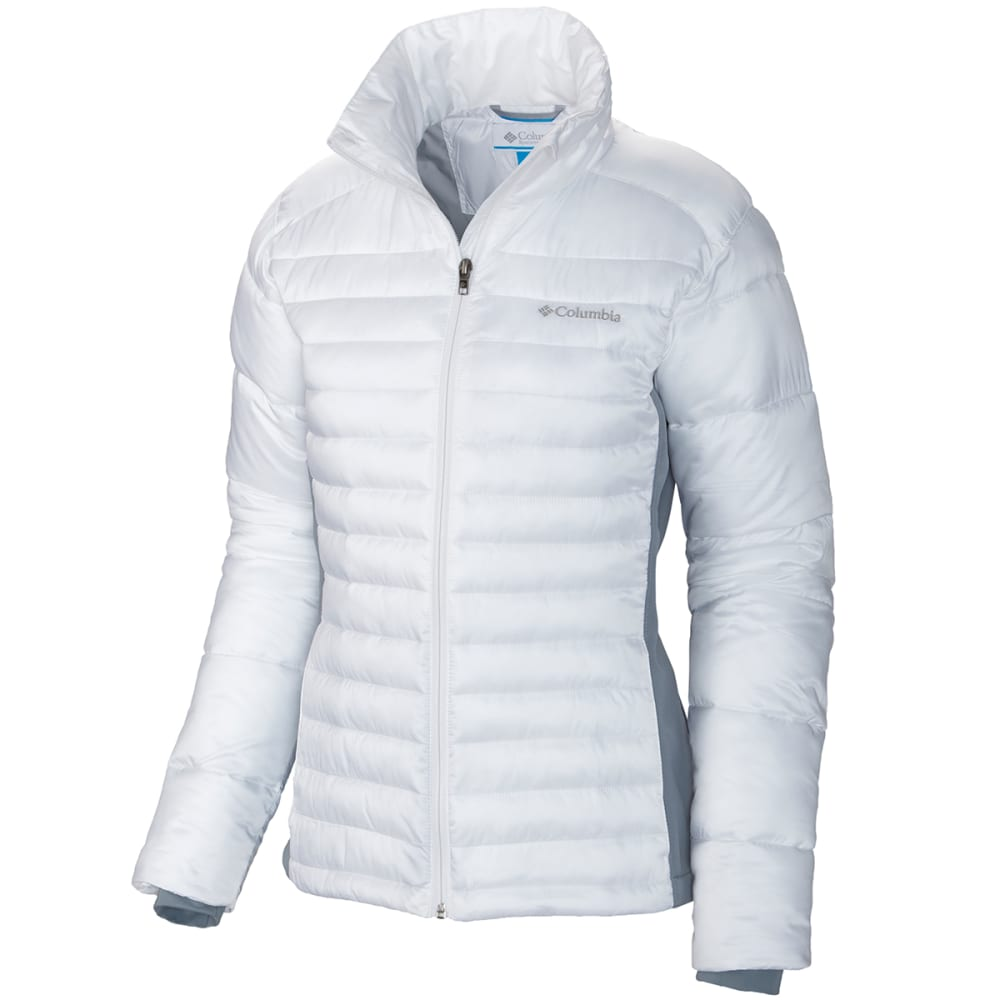 COLUMBIA Women's Powder Pillow Hybrid Jacket - 102-WHITE/TRADWINDS