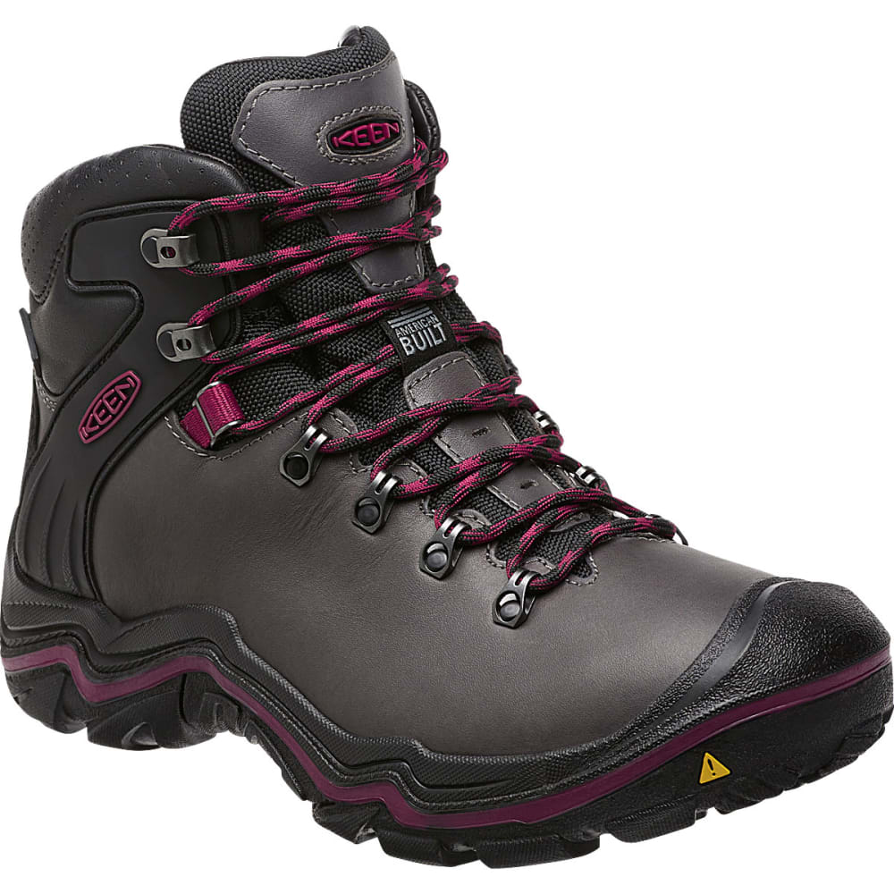KEEN Women's Liberty Ridge Waterproof Hiking Boots - GARGOYLE/BEET RED