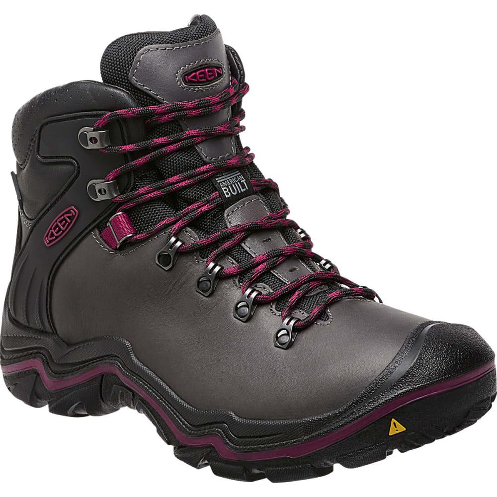 KEEN Women's Liberty Ridge Waterproof Hiking Boots - GARGOYLE/BEET RED