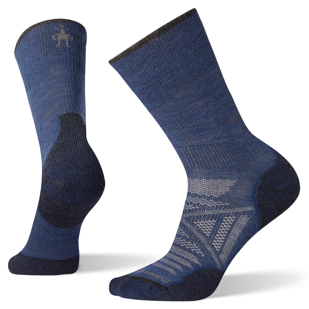 SMARTWOOL Men's PhD Outdoor Light Mid Crew Socks - ALPINE BLUE - B25