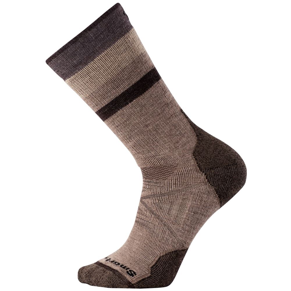 SMARTWOOL Men's PhD Outdoor Medium Pattern Crew Socks - FOSSIL-880