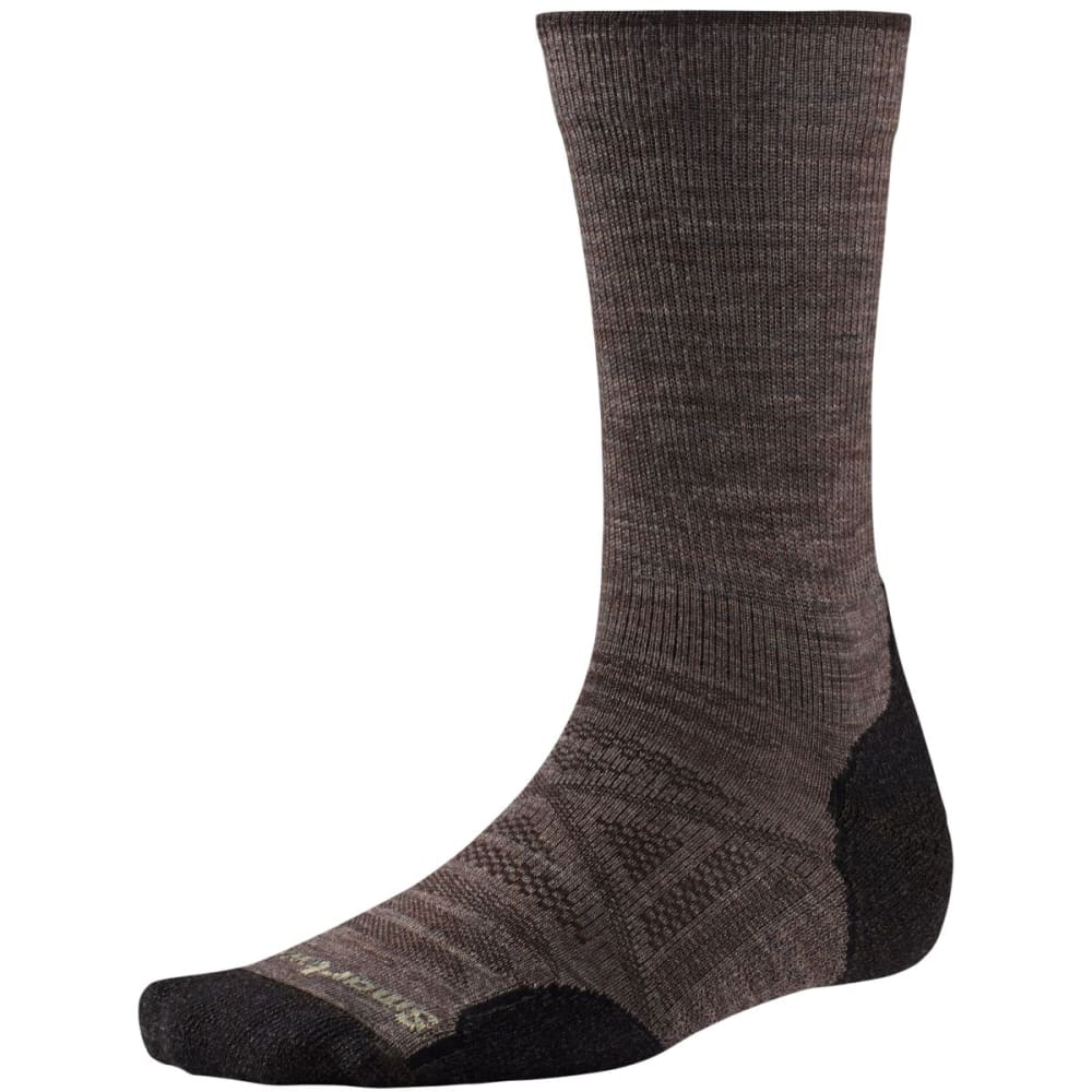 SMARTWOOL Men's PhD Outdoor Light Crew Socks - TAUPE 004