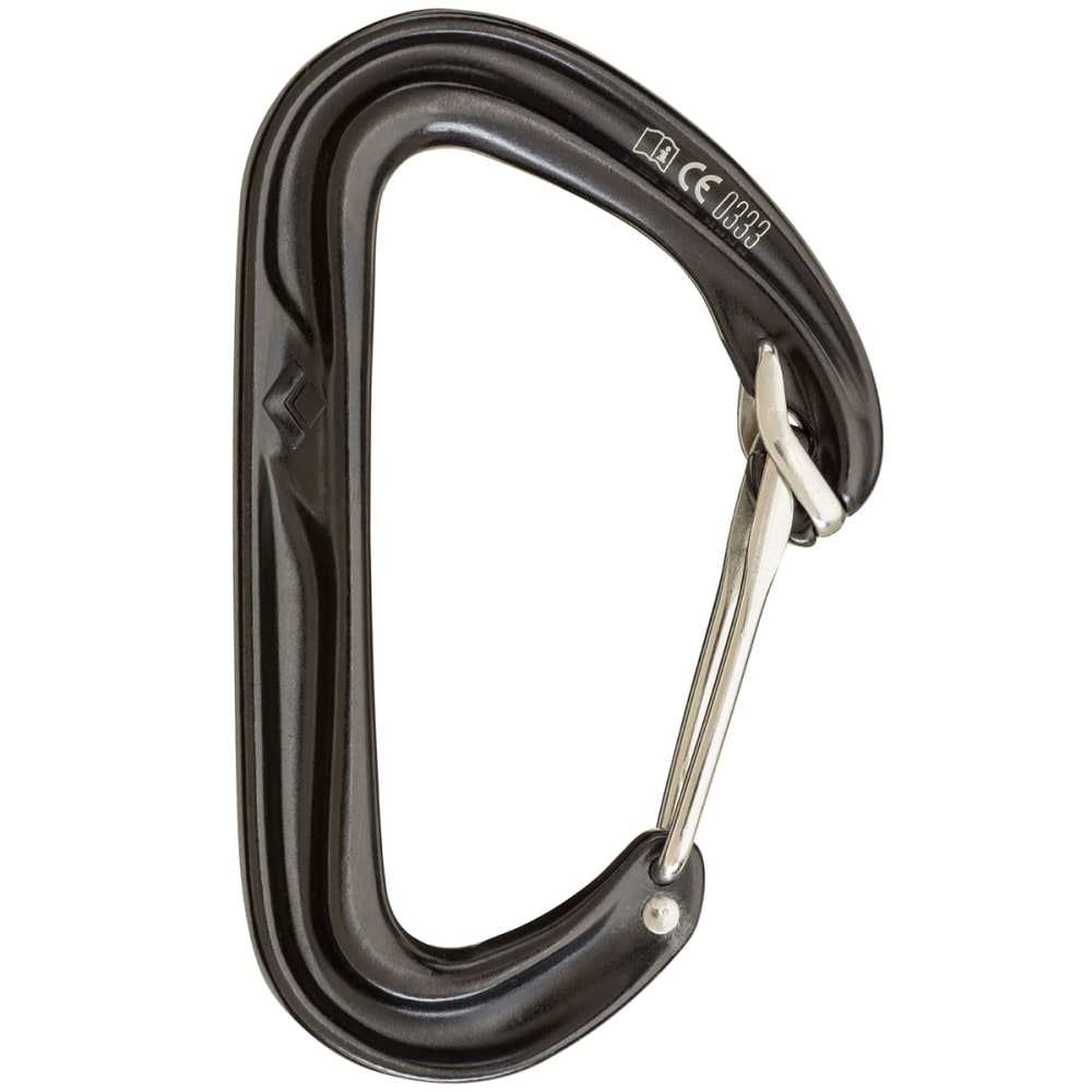 BLACK DIAMOND HoodWire Carabiner - BLACK