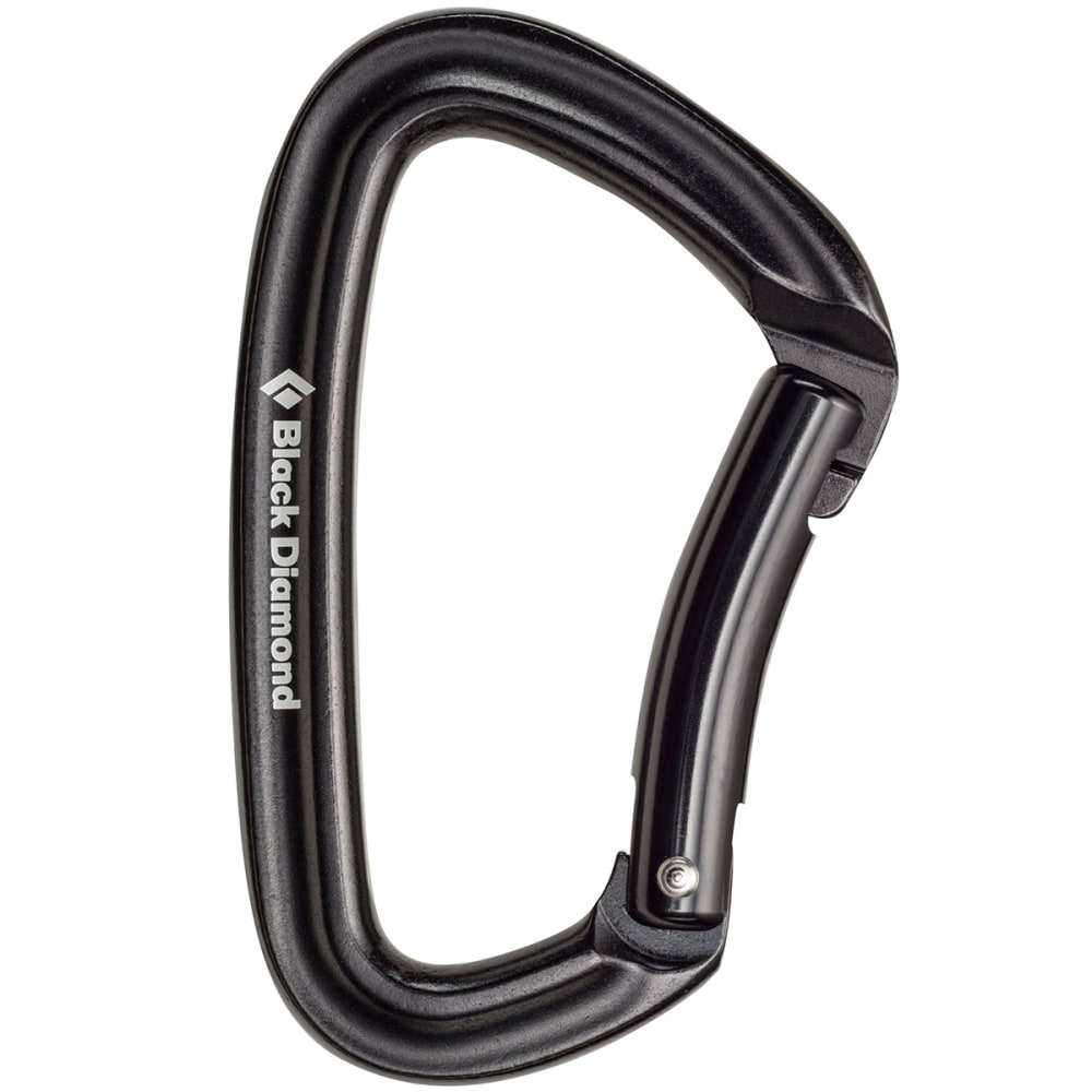 BLACK DIAMOND Positron Bent Carabiner - BLACK