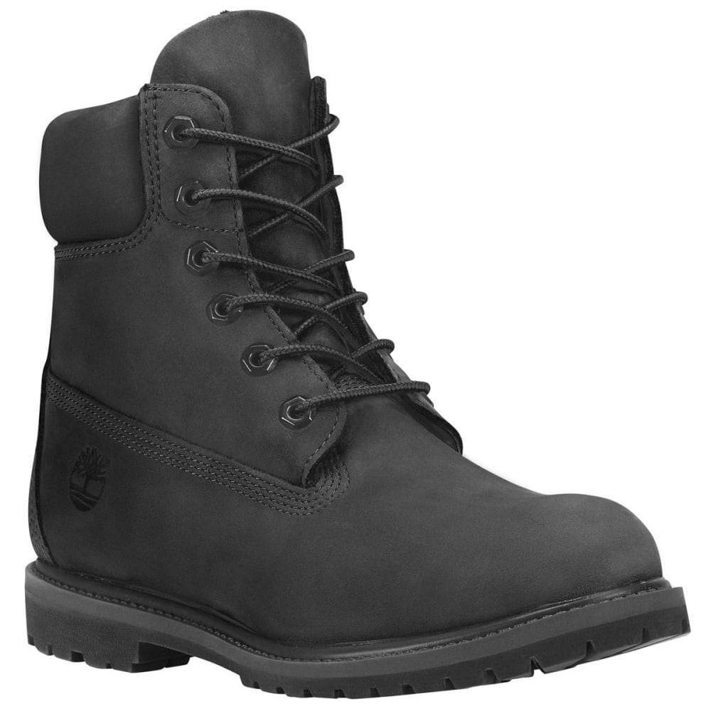 5a1e6c513 TIMBERLAND Women's 6 Inch Premium Boots - BLACK NUBUCK. Hover to zoom