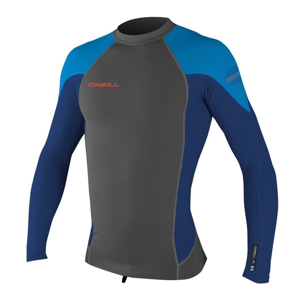 O'NEILL Hyperfreak 0.5mm Neo/Skins Long-Sleeve Wetsuit - GRAPH/NVY/BRTBLU CK1