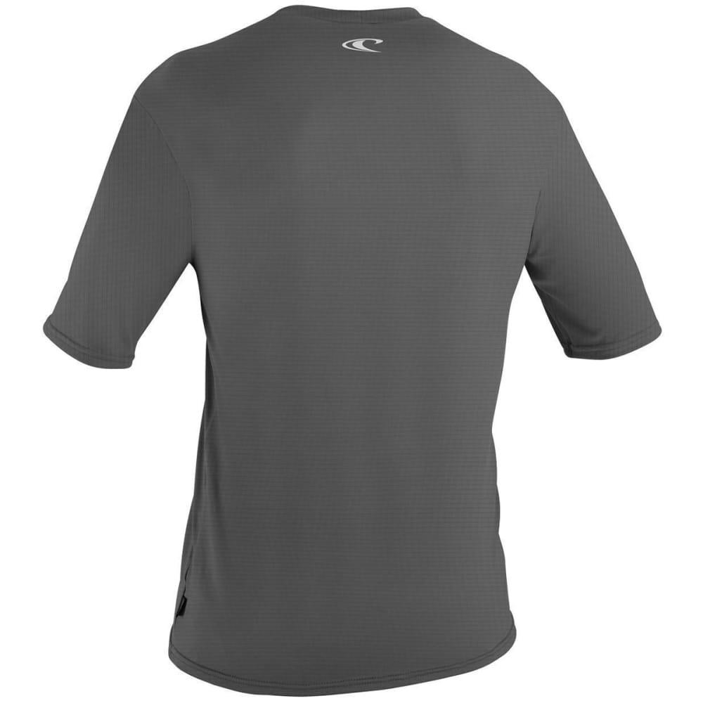 O'NEILL Men's Skins Hyperfreak Short-Sleeve Rash Tee - GRAPHITE 009