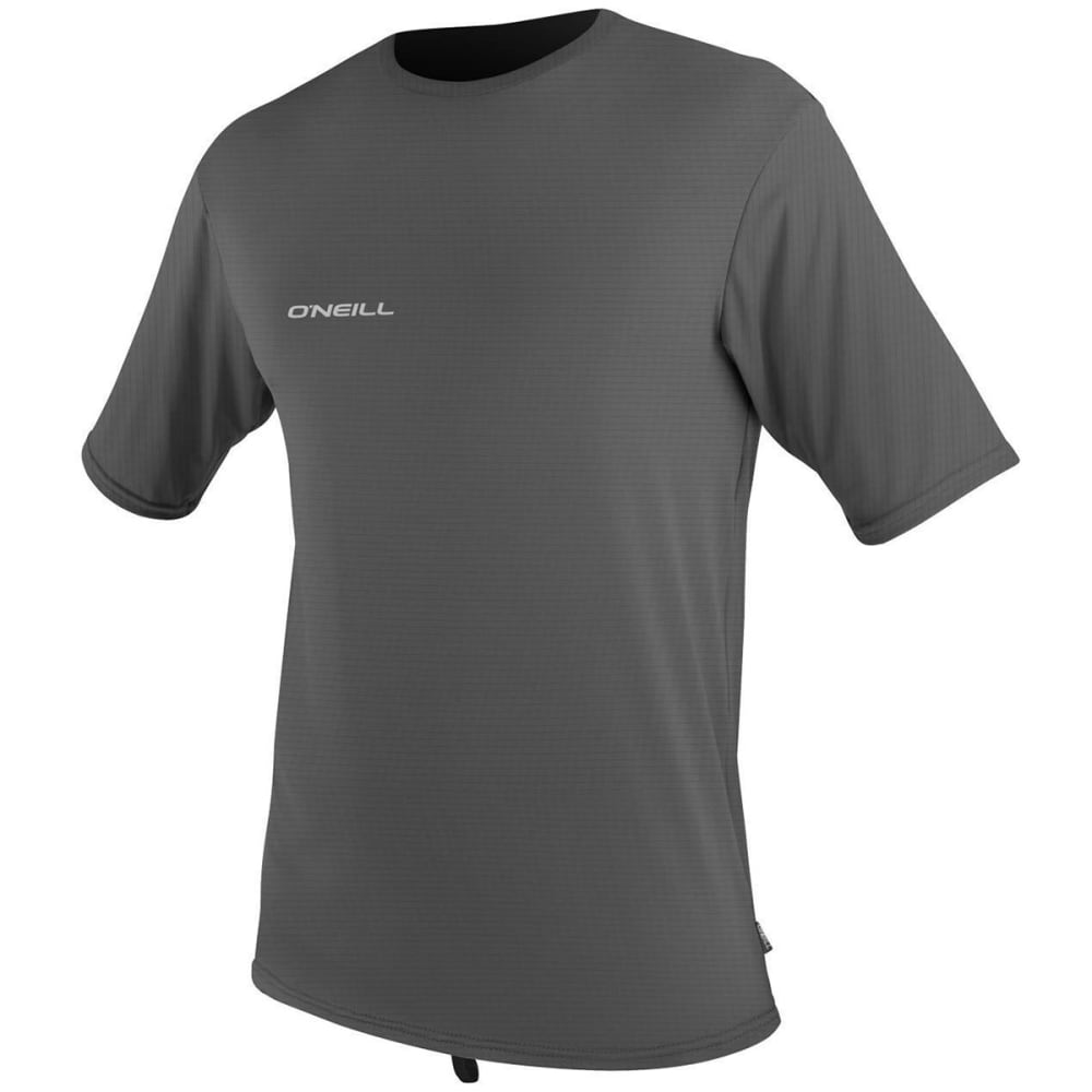 O'NEILL Men's Skins Hyperfreak Short-Sleeve Rash Tee - GRAPHITE 009