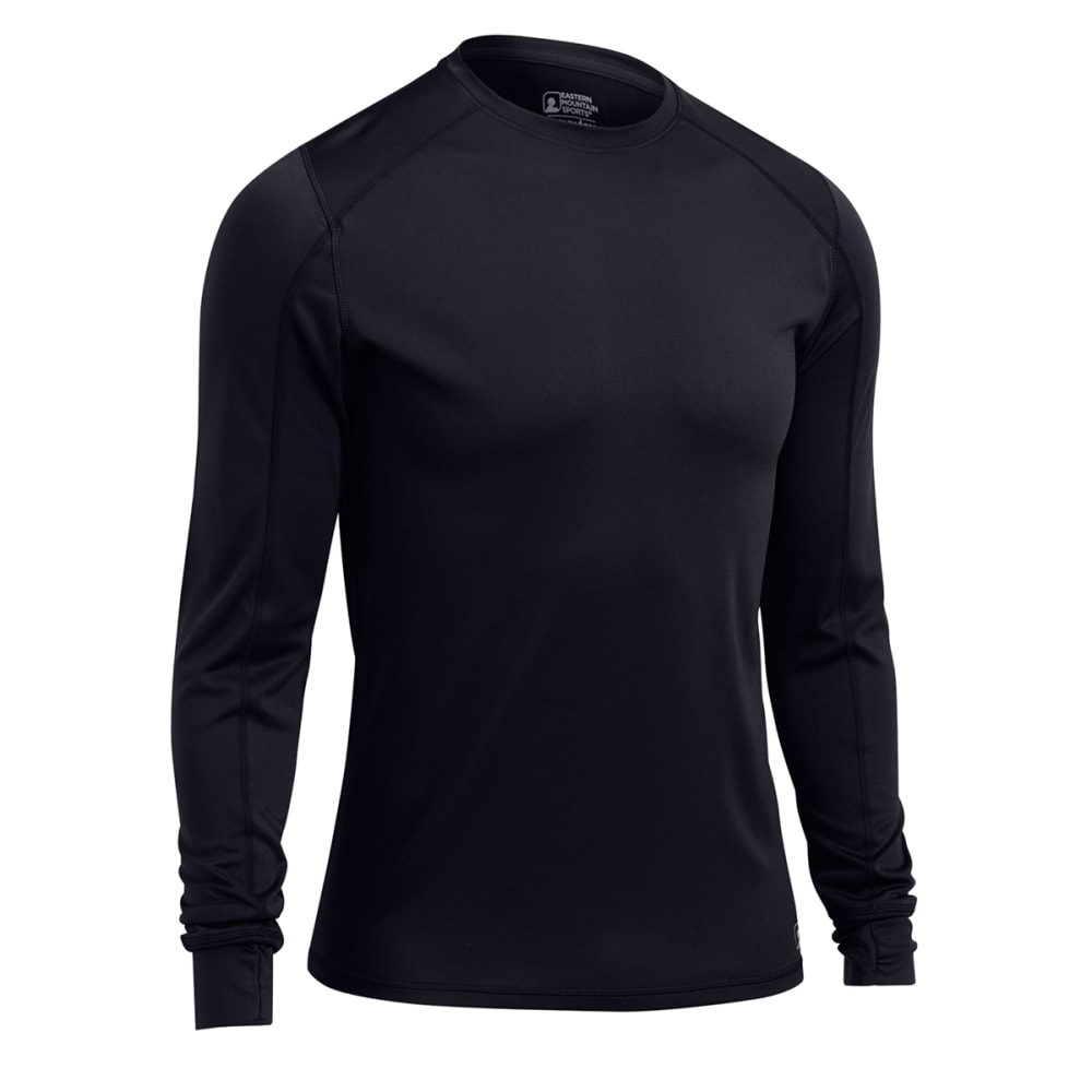 EMS® Men's Techwick® Lightweight Long-Sleeve Crew Baselayer - BLACK