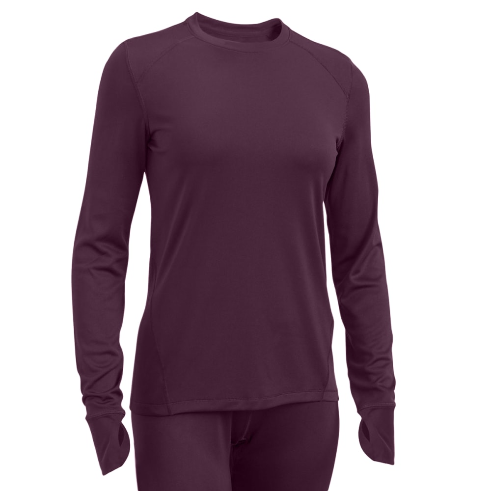 EMS® Women's Techwick® Solid Lightweight Long-Sleeve Crew Baselayer - PLUM PERFECT