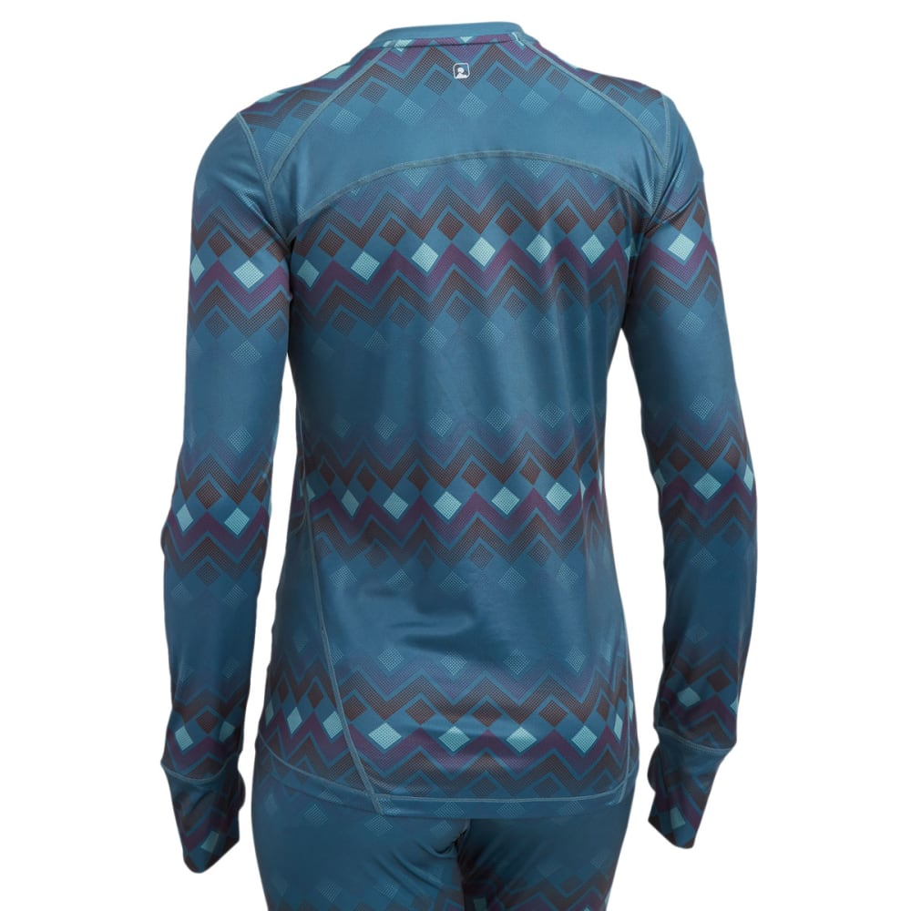 EMS® Women's Techwick® Printed Lightweight Long-Sleeve Crew Baselayer - BALSAM