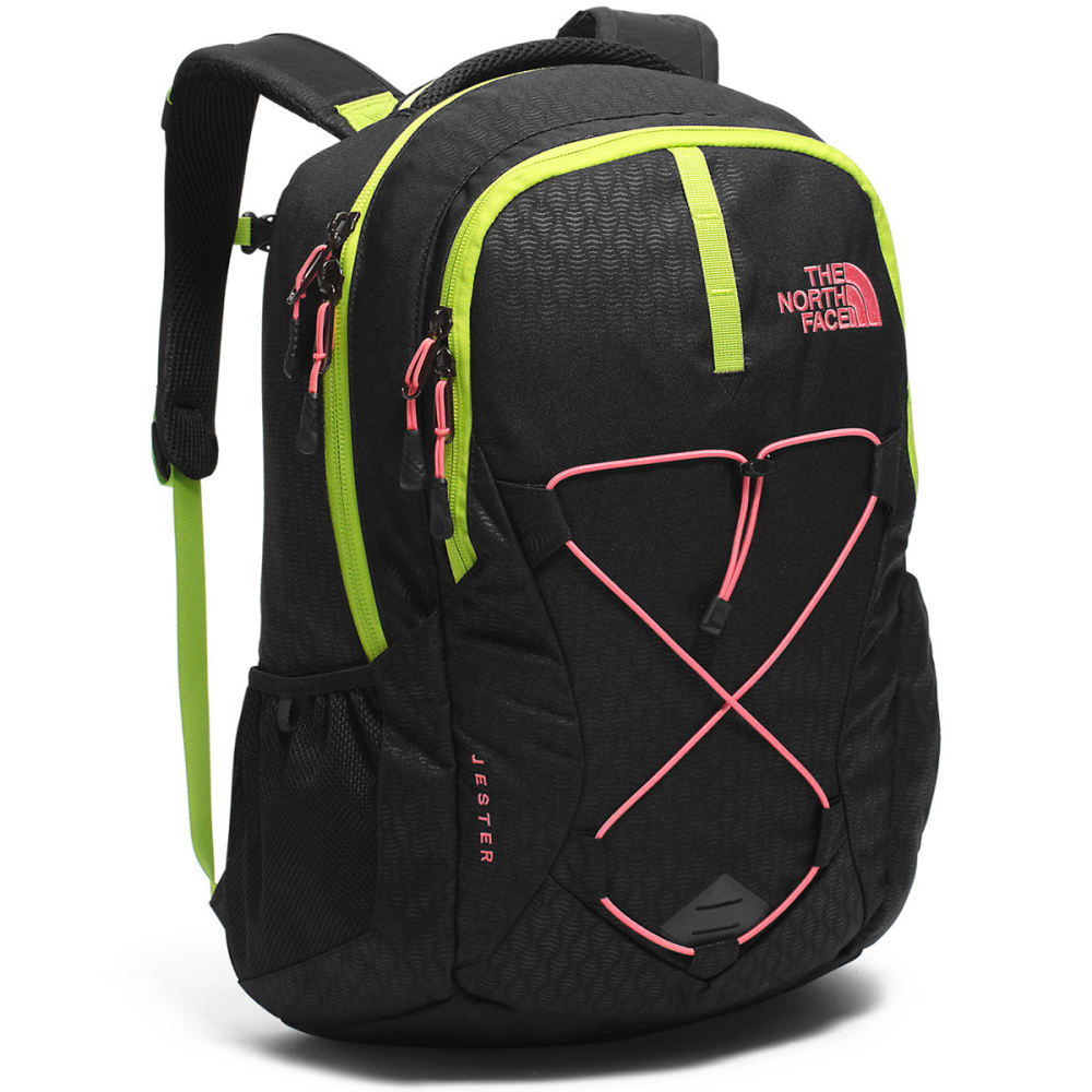 THE NORTH FACE Women's Jester Daypack - TNF BLACK/CORAL-LLE