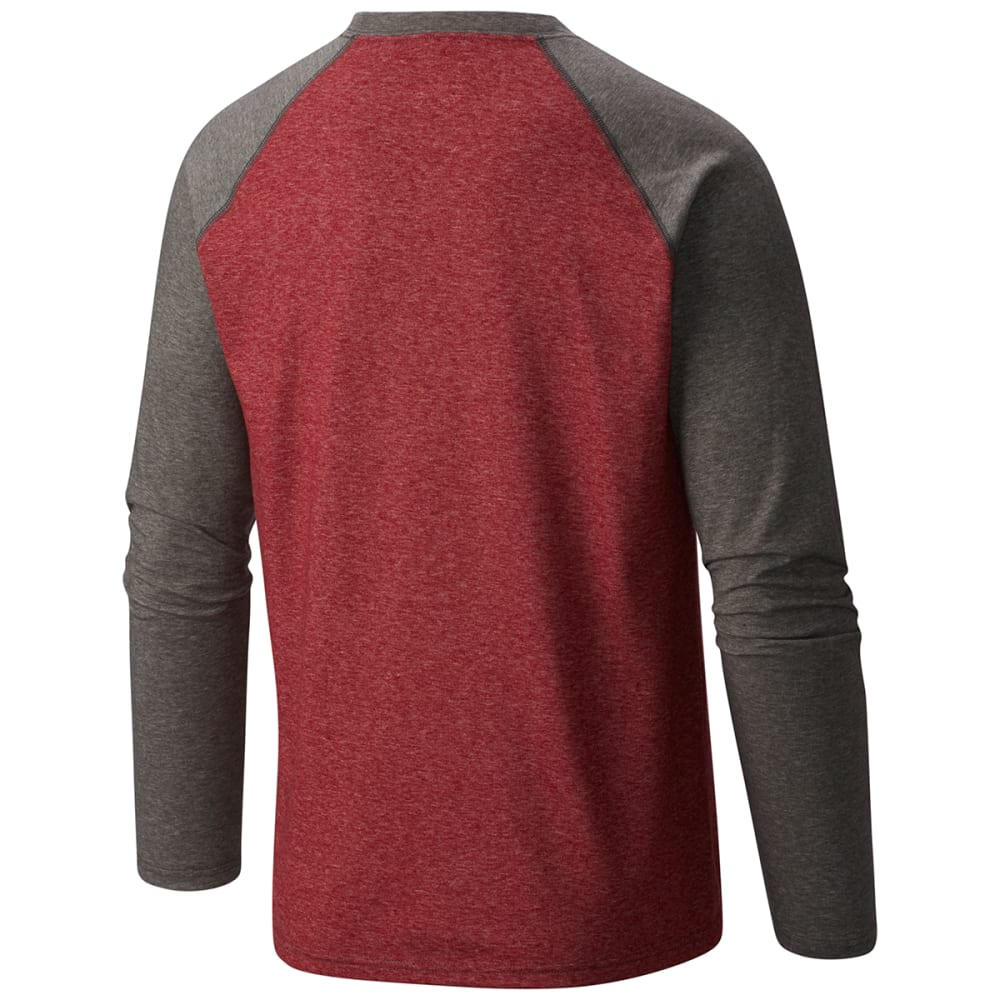 COLUMBIA Men's Thistletown Park Raglan Tee - RED ELEMENT-611