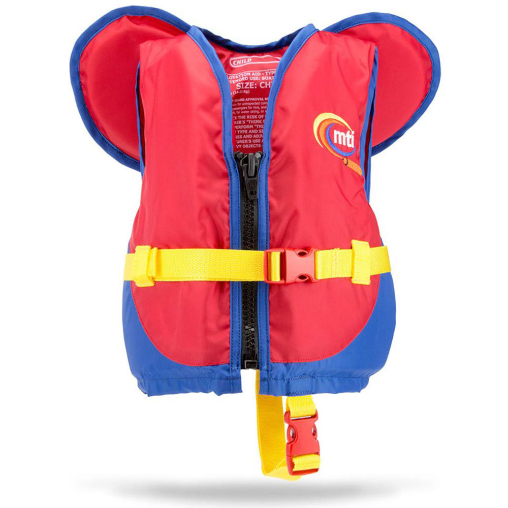 MTI Kids' PFD With Collar - RED/BLUE