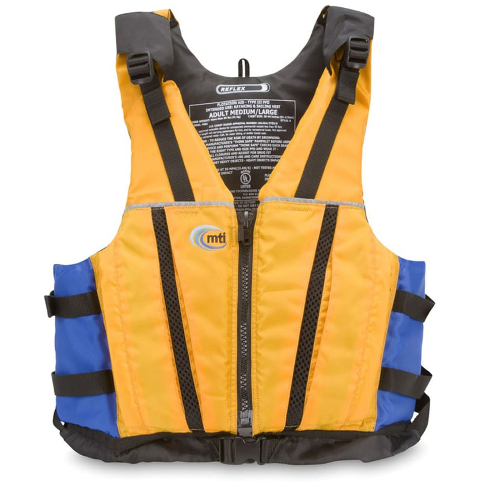MTI Reflex PFD Vest - MANGO/BLUE