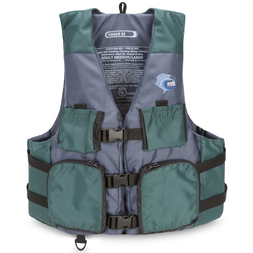 MTI Fisher PFD - GREEN/GREY