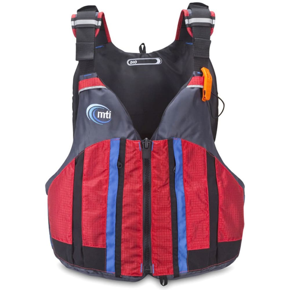 MTI Dio High-Back PFD - RED RIPSTOP/GRAY