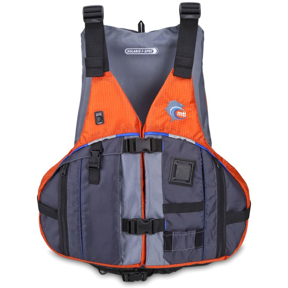 MTI Solaris F-Spec Fishing PFD - Orange/Gray