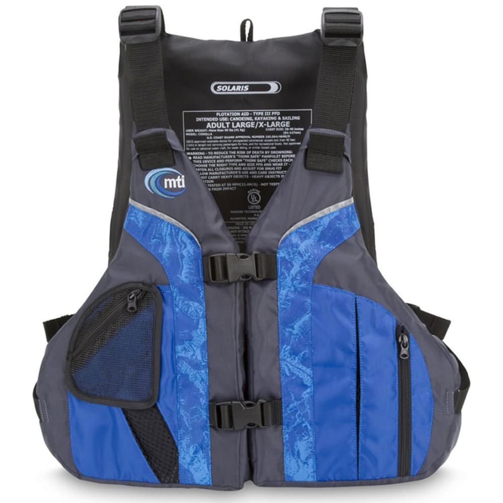 MTI Solaris High-Back PFD - BLUE/GREY