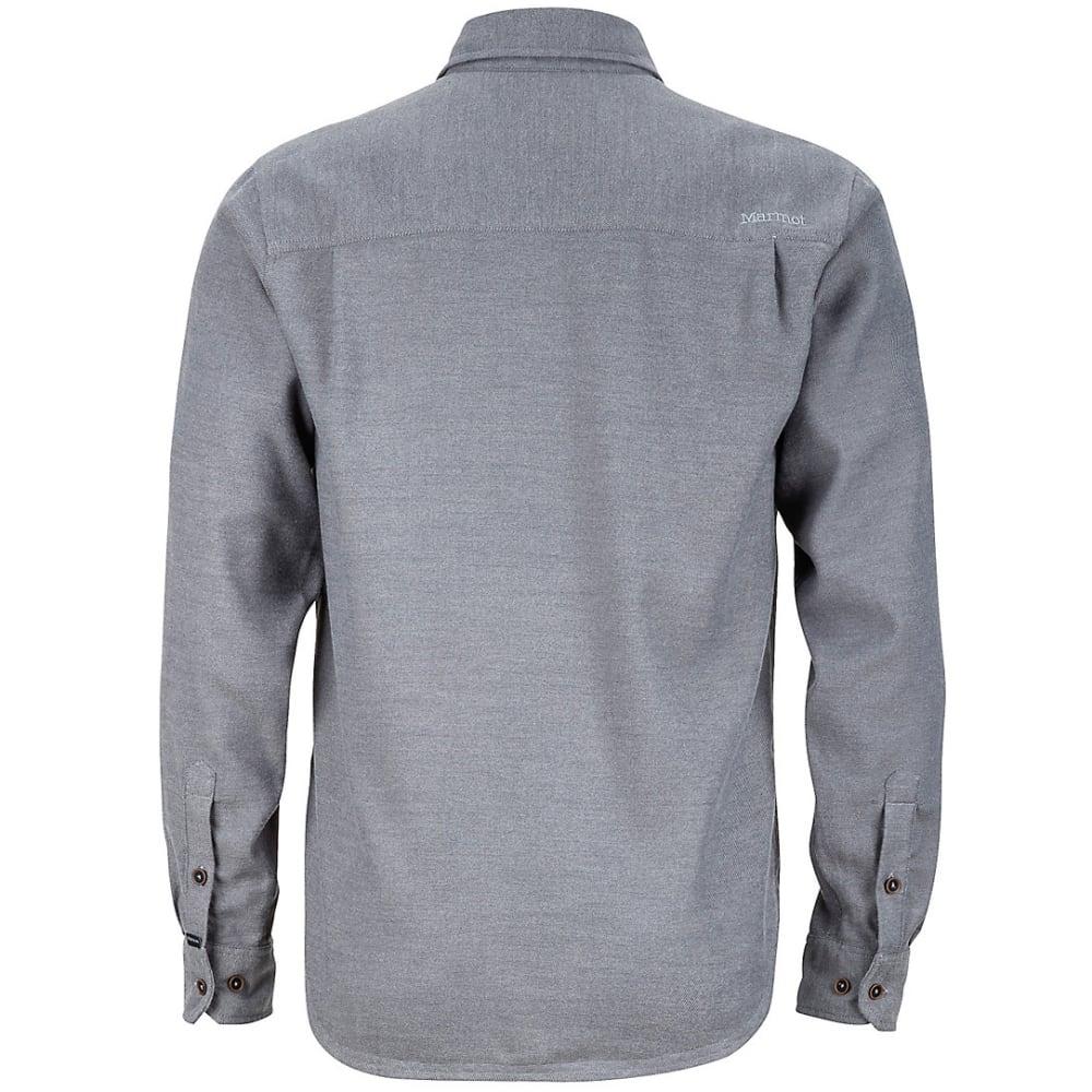 MARMOT Men's Hobson Flannel Shirt - 8552-SLATE GREY HTR