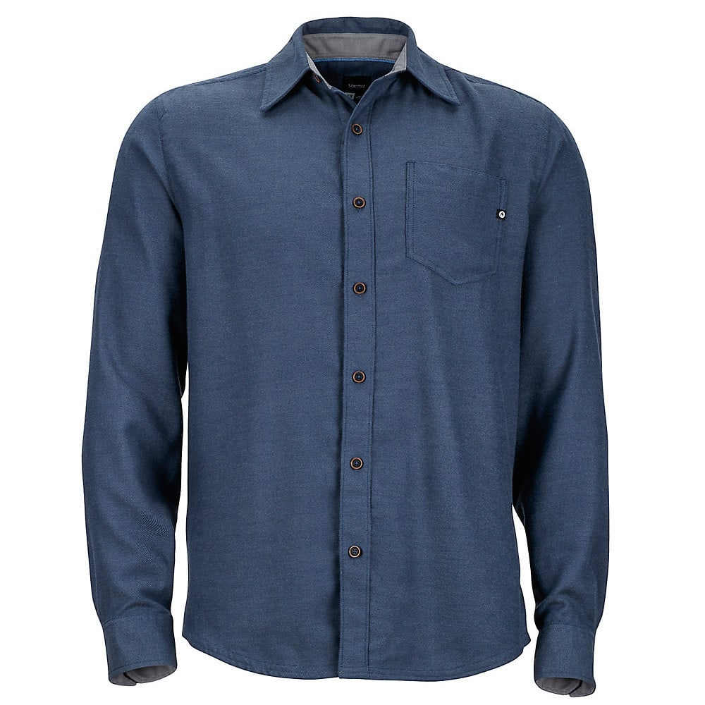 MARMOT Men's Hobson Flannel Shirt - 2836-DK INDIGO HEATH