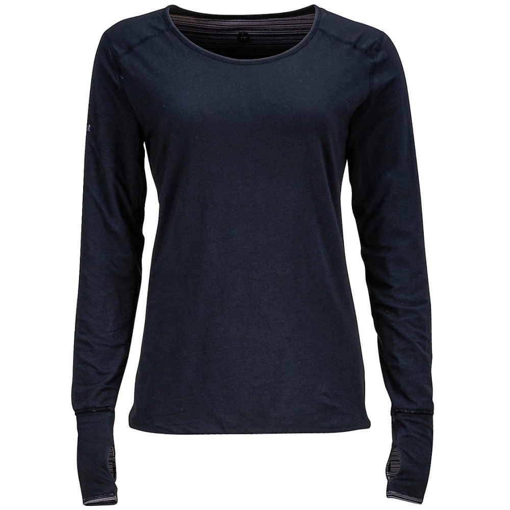 MARMOT Women's Hannah Reversible Knit Long-Sleeve Shirt - TRUE BLACK