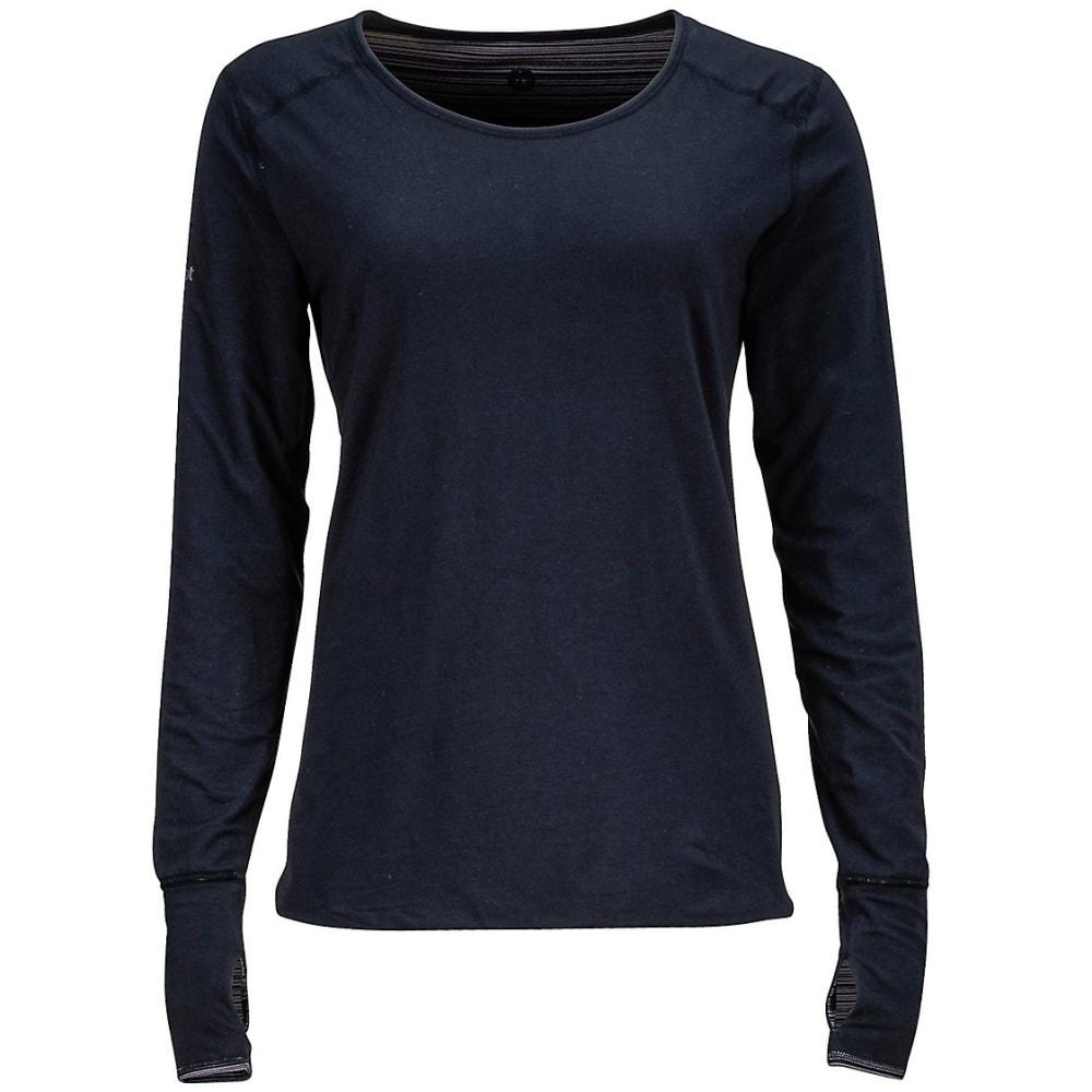 MARMOT Women's Hannah Reversible Knit Long-Sleeve Shirt - TRUE BLACK